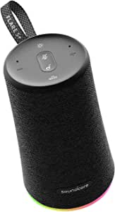 Anker Soundcore Flare S+ Portable Bluetooth Speaker with Alexa Voice Functionality, LED Lights, IPX7 Waterproof Rating, 360 Sound