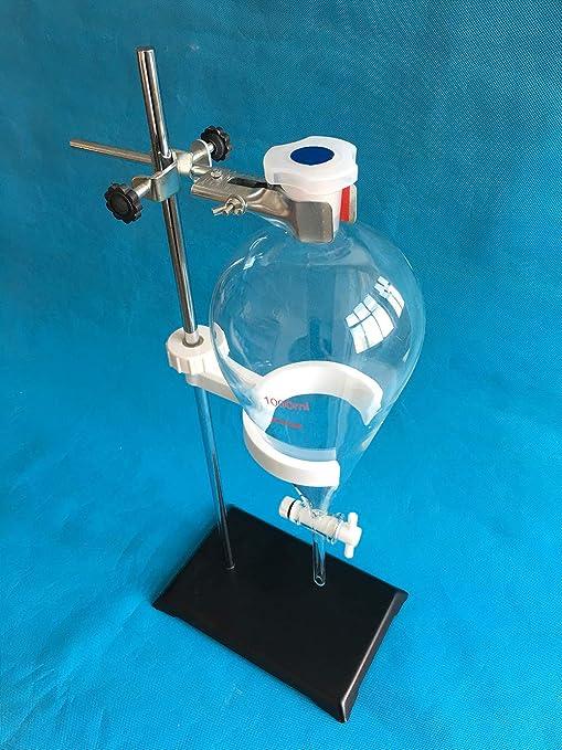 1000mL Stonylab Verre Borosilicate Conial ampoule /à Entonnoir avec 24//40/articulations et PTFE robinet darr/êt 1