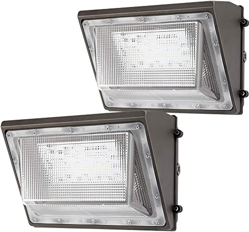 Lightdot 2 Pack 120W LED Wall Pack Lights with Photocell, 13200 LM 700W HPS HID Equivalent , Daylight 5000K, IP65, Bright Outdoor Commercial and Flood Security Lighting – ETL DLC Listed