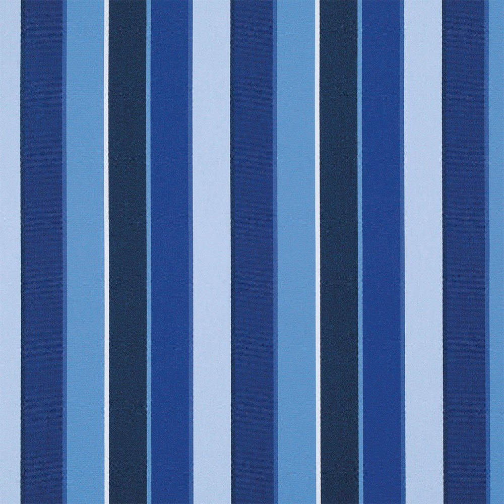 RSH Décor Sunbrella Indoor/Outdoor Curtain Drapery Panel with Rod-Pocket (Sunbrella Milano Cobalt Blue Stripe, 50'' W x 84'' L)