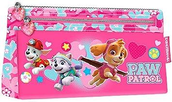 PAW PATROL-La Patrulla Canina Estuche portatodo Plano, Color Rosa, 22 cm (Karactermanía 93546): Amazon.es: Juguetes y juegos