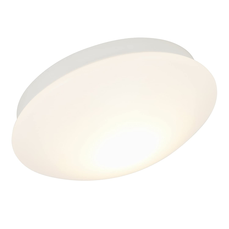 Briloner Leuchten LED bathroom light, splash-water proof bathroom ceiling lamp, eco-friendly, warm white, IP44, 9 W, Ø 30 cm [Energy Class A+] 3255-016