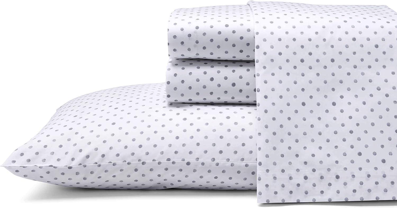 Amazon Com Ed Ellen Degeneres Percale Collection Bed Sheet Set 100 Cotton Oeko Tex Certified Crisp Cool Lightweight Moisture Wicking Bedding Queen Watercolor Dots Home Kitchen