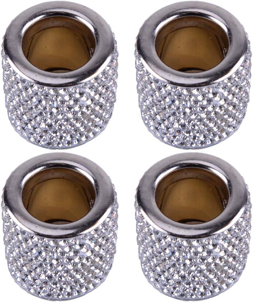 Wakauto Kopfst/ütze Kragen Auto Bling Bling Kristall Charms Diamant Innenleisten f/ür Auto Gel/ändewagen Gelb