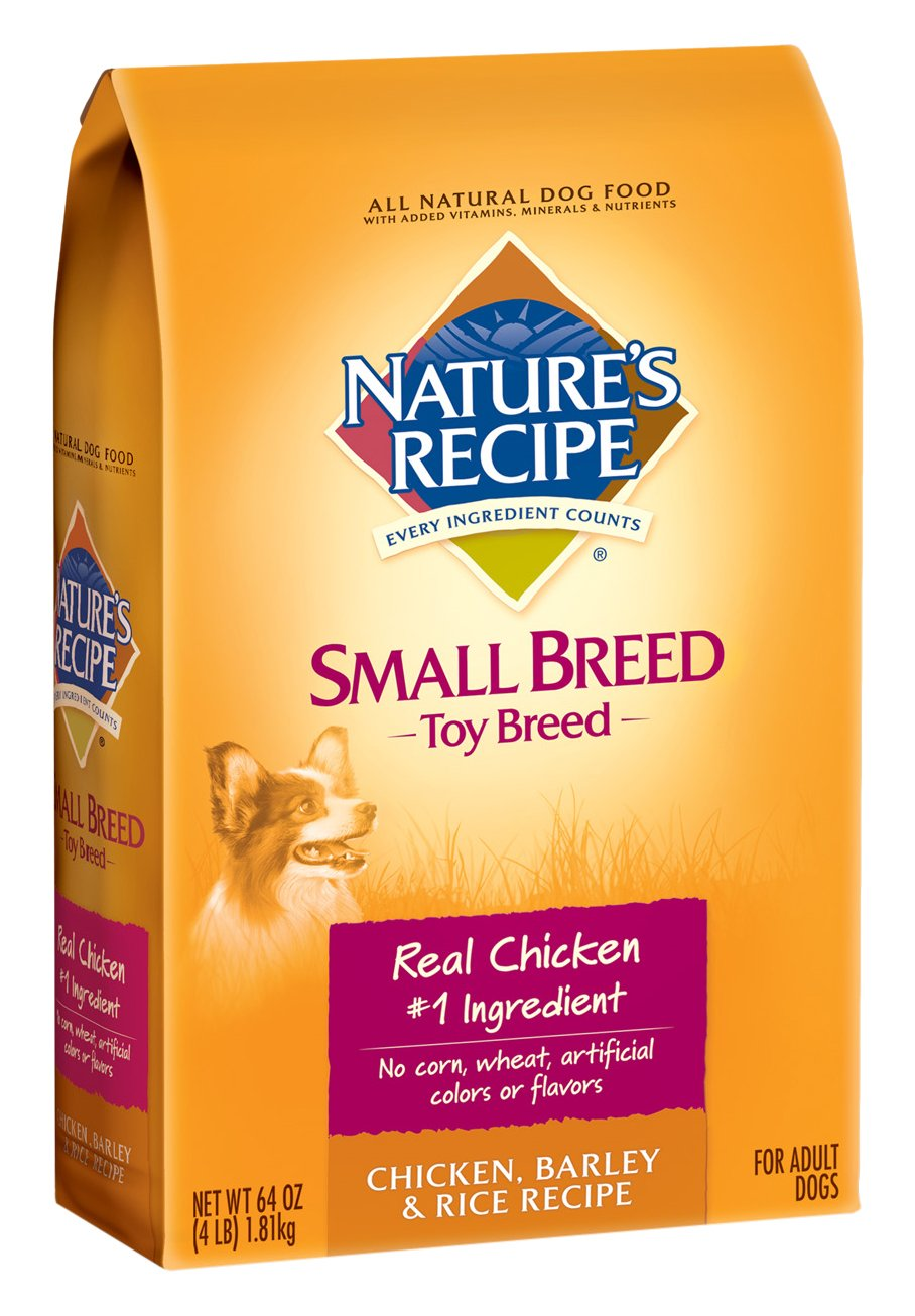 Nature's Recipe Adult Dry Dog Food Toy Breed Chicken, Barley & Rice Recipe