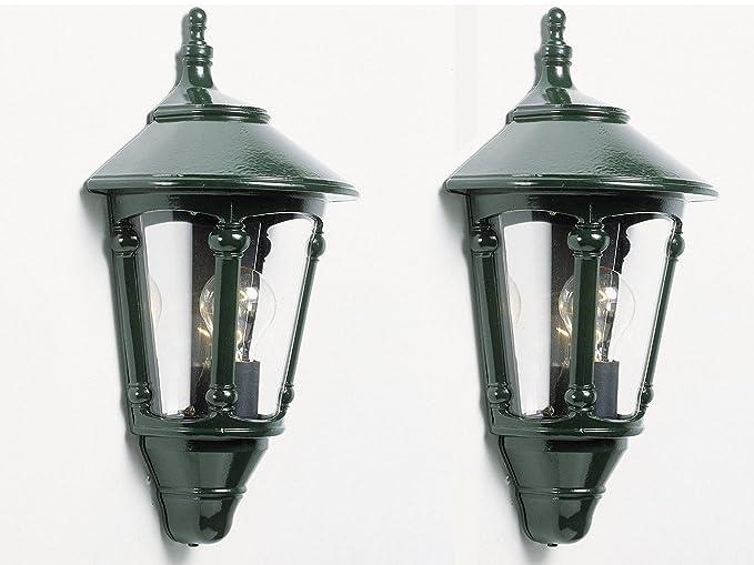 Illuminazione Esterna Lanterna : Konstsmide set di 2 lanterna da parete lampada da esterni virgo in