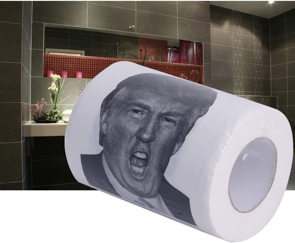 ArRord Donald Trump Humour Toilet Paper Roll Novelty Funny Gag