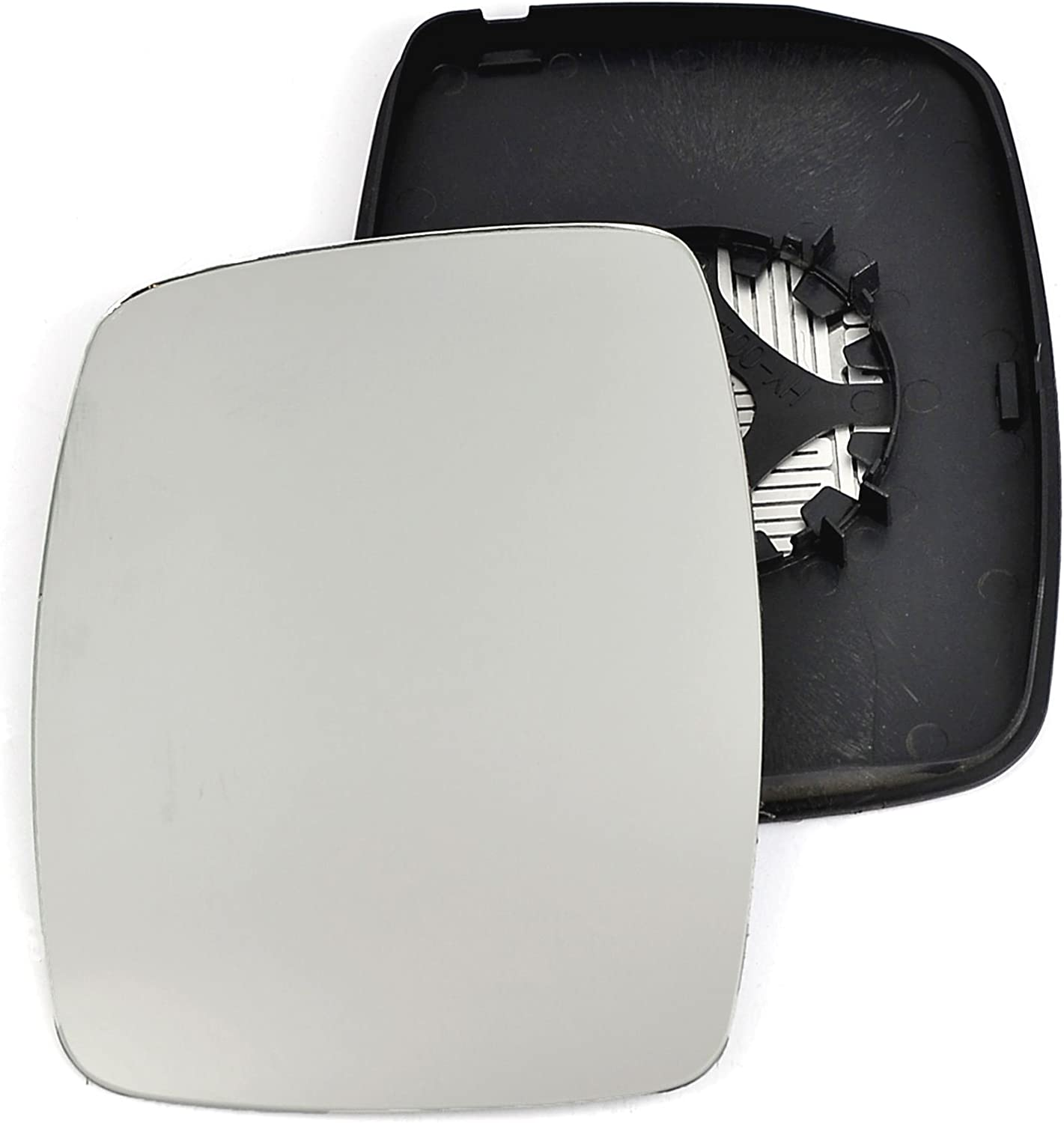 Passenger left hand side Heated wing door Silver mirror glass with backing plate #C-SHY//L-MSVO97 Clip On