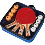 Rally and Roar Table Tennis Set – 2 and 4 Player Options – Classic or Premium – 5-ply Blade Soft Rubber Paddles, Ideal for Pr
