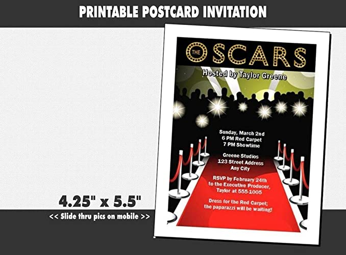 Image Unavailable Not Available For Color Oscar Awards Red Carpet Paparazzi Party Invitation