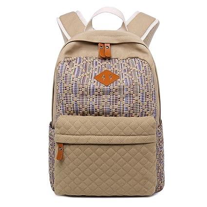 96c1a0a50c Znvmi Mode Collège Sacs à Dos en Toile School Bag Fille Garçons Adolescents  Sac d'