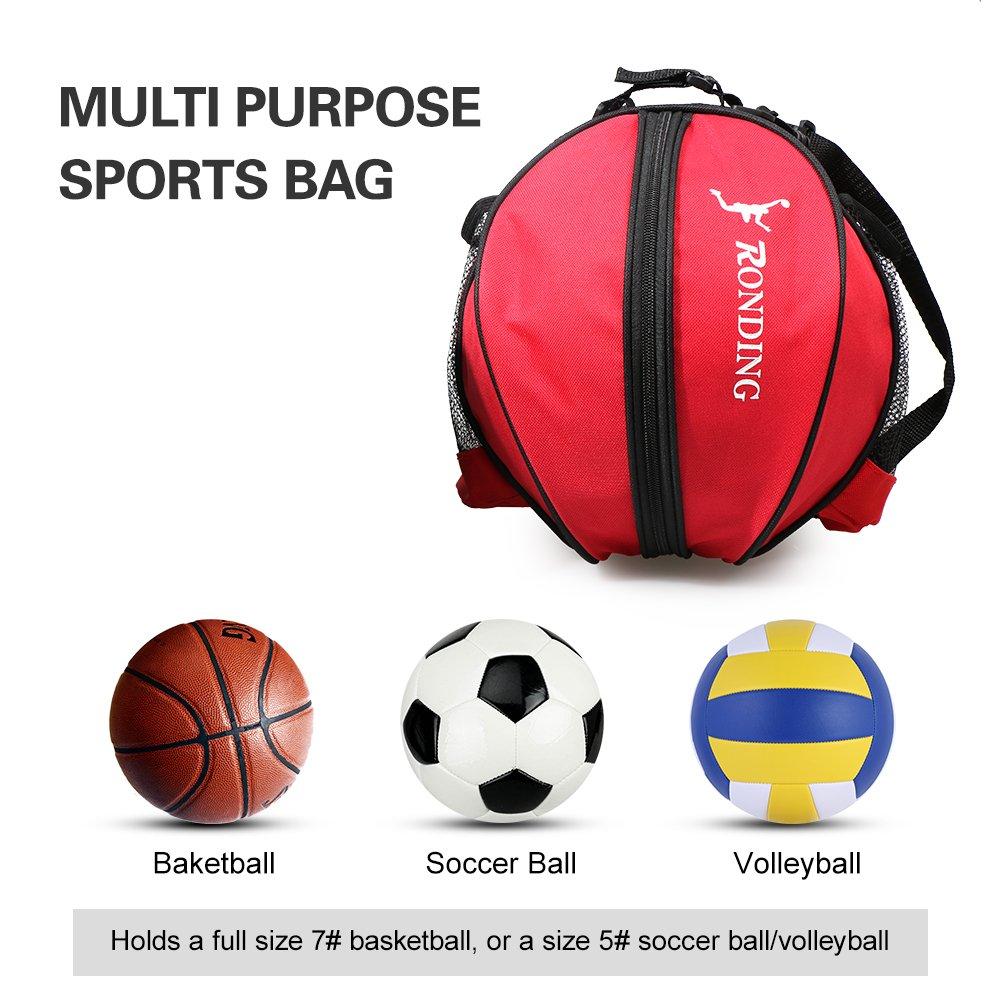 Lixada Deportes Bola Redonda Bolsa de Baloncesto Bolsa de Fútbol Balón de Fútbol  Voleibol Bolsa de Transporte (Negro)  Amazon.es  Deportes y aire libre 819c06a8a50c8
