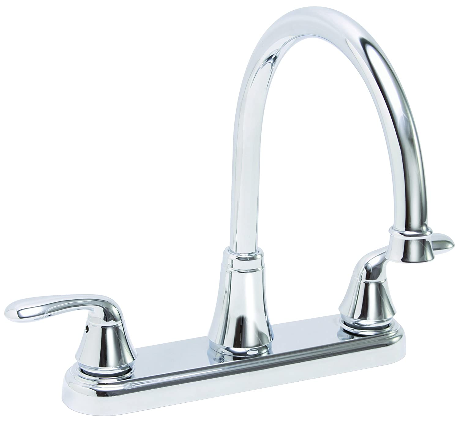 Premier 126965 Waterfront Kitchen Faucet With Two Handles, Chrome ...