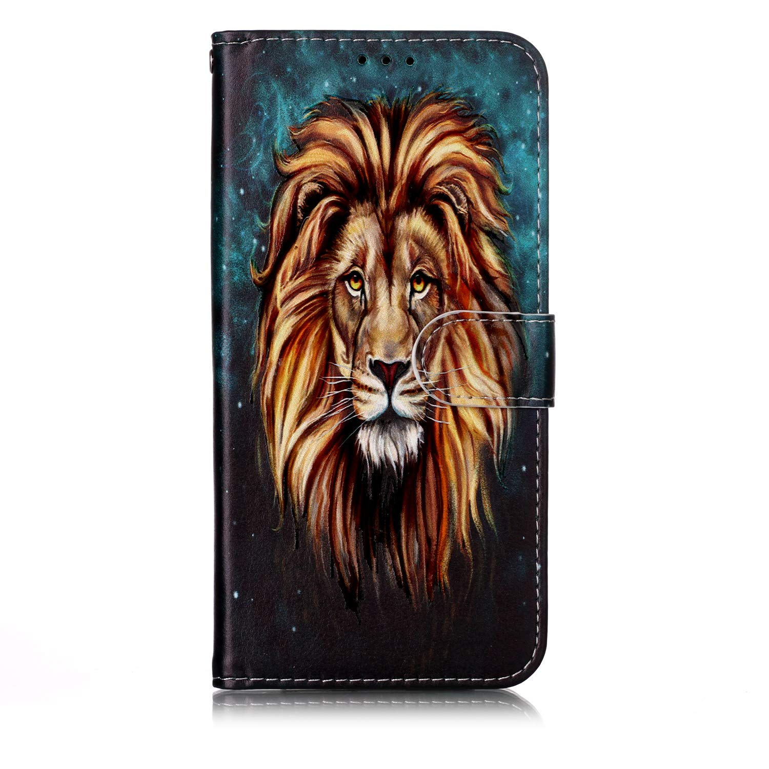 LOYHU010199 L9 Lomogo Samsung Galaxy A50 Case Leather Wallet Case with Kickstand Card Holder Shockproof Flip Case Cover for Galaxy A50
