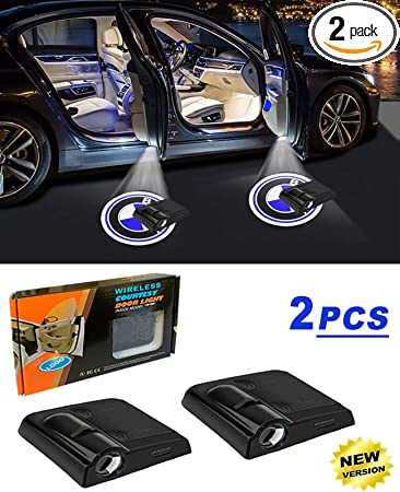 For 2020 Donald Trump Wireless Car Door Light,2pc Universal Magnetic Sensor Welcome Logo Projector Led Shadow Ghost Laser Lamp Auto Courtesy Step Lamp for All Brands of Cars