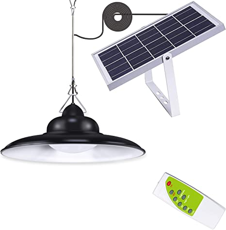 Solar Lights Outdoor,IP65 Waterproof 16.4Ft Cord Remote Control Led Outdoor Lights Pendant Light Solar Powered for Home Yard Garden Decorate-Three Lighting Modes Warm White Cool White