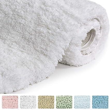 norcho 31 x 19 soft shaggy bath mat non slip rubber bath rug - Bathroom Rugs Amazon
