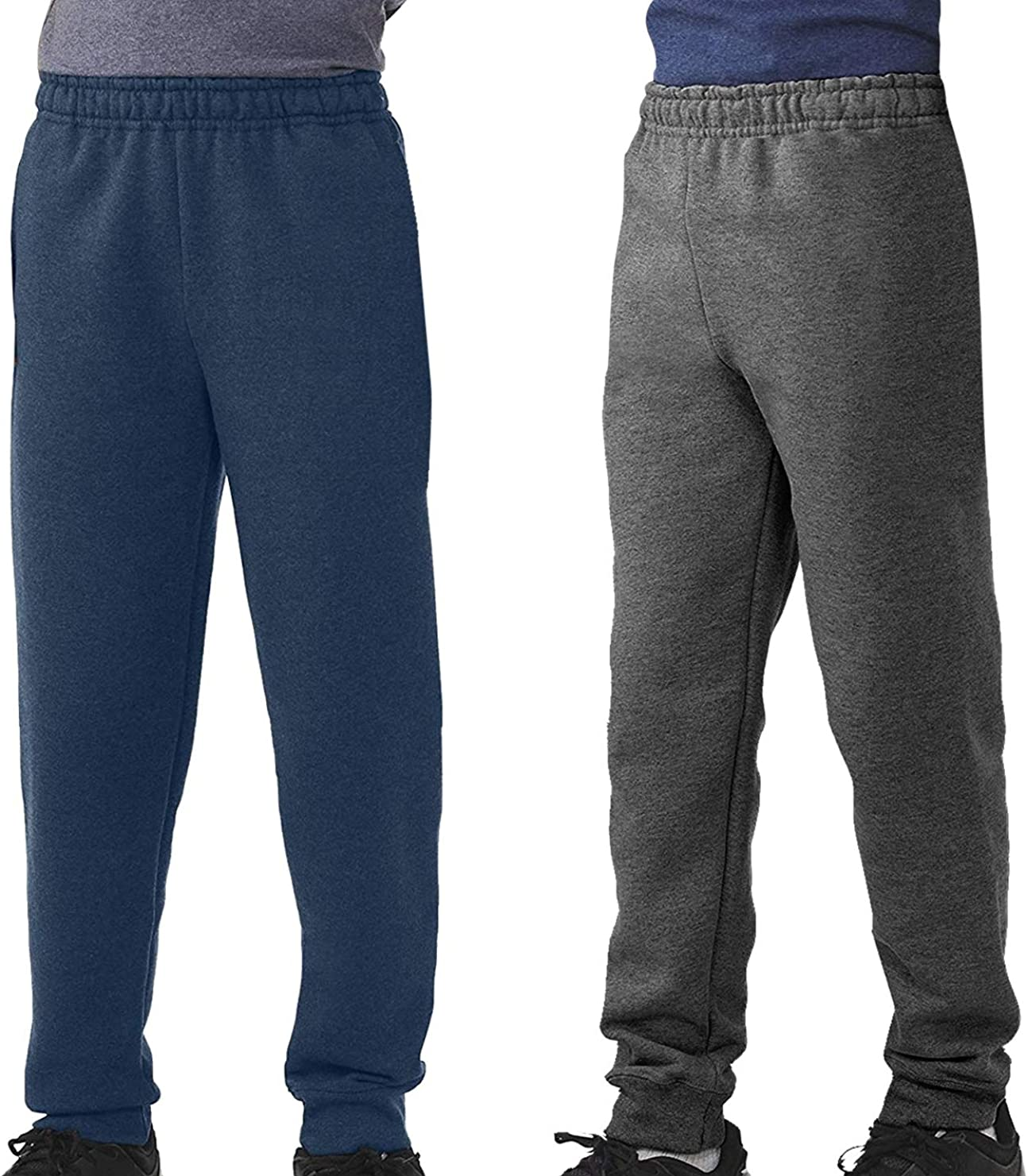 TEXFIT 2-Pack 8-16yrs Boys Jogger Pants 2pcs Set Fleece Sweatpants