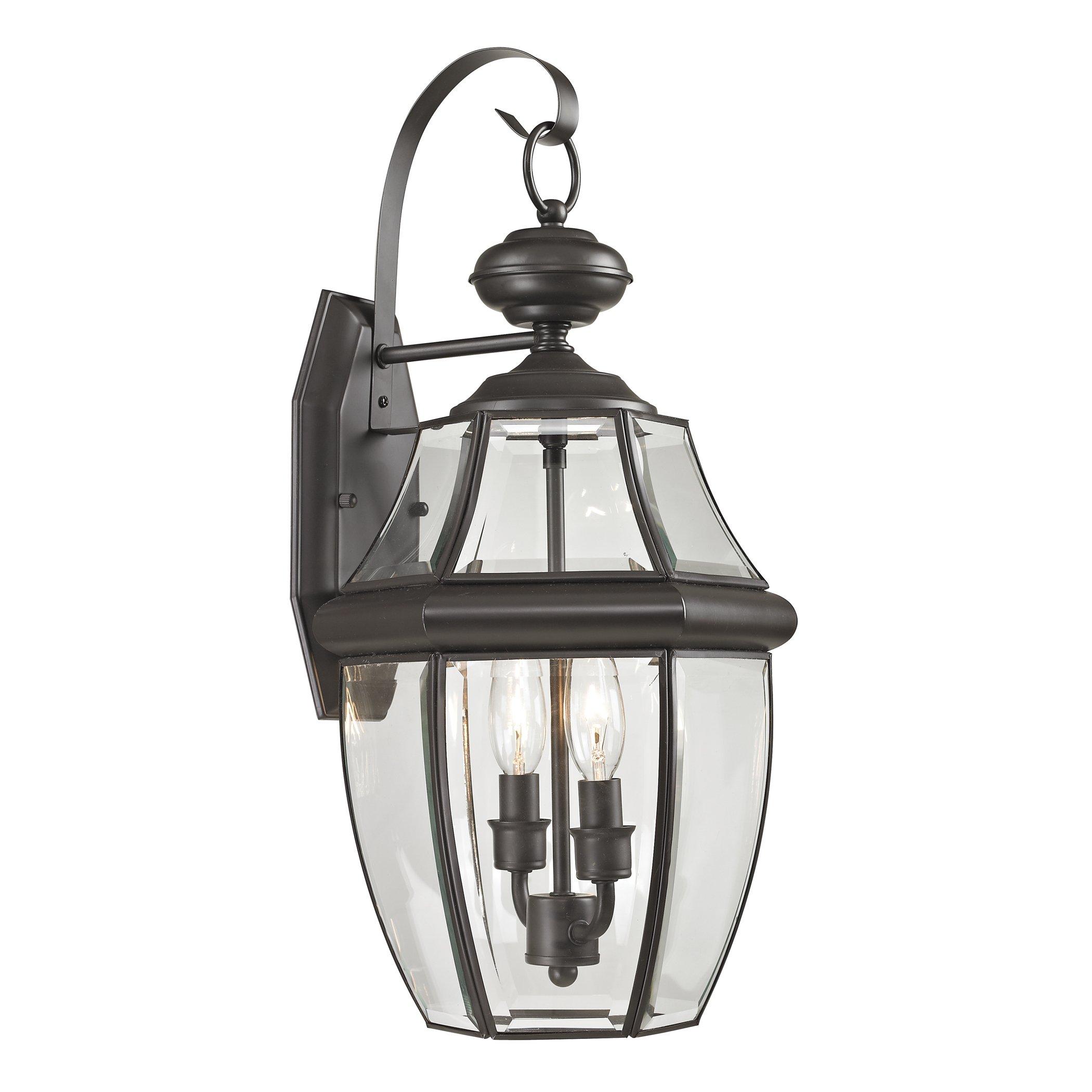 Cornerstone Lighting 8602EW/75 Ashford 2 Light Exterior Coach Lantern, Oil Rubbed Bronze