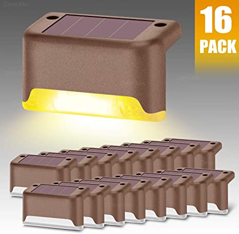 3 LED Solar Step Stair Light Waterproof Outdoor Lamp For Deck Patio Path Fence