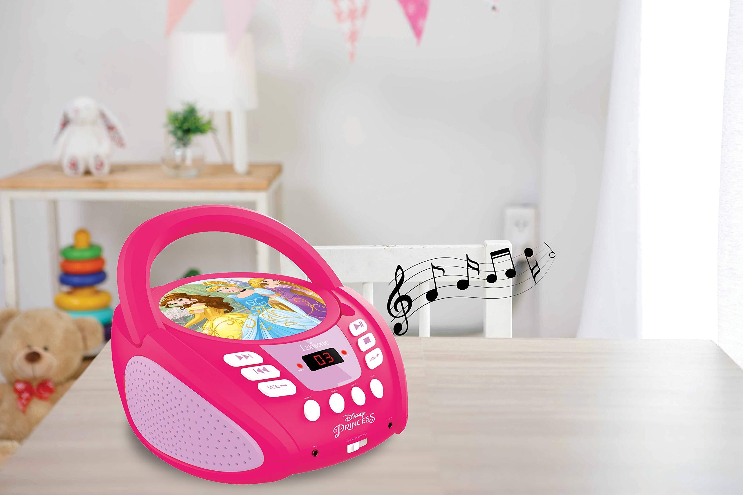 LEXiBOOK Disney Princess Boombox Radio CD Player by LEXiBOOK (Image #5)