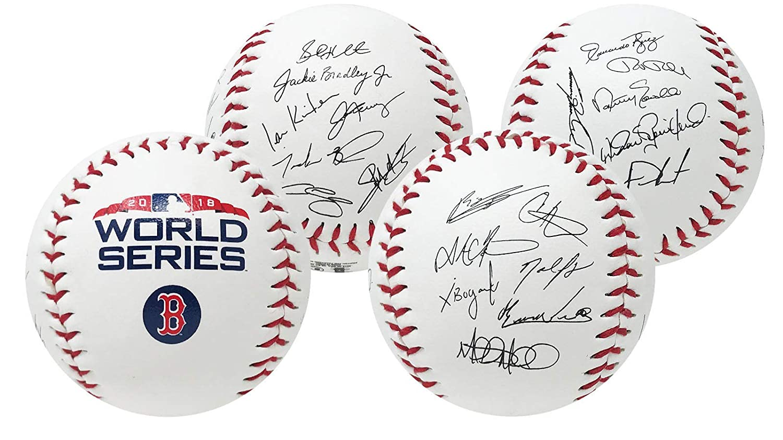 Rawlings Boston Red Sox 2018 MLB World Series Autograph Roster Champions Baseball