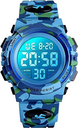 Montre étanche pour homme | Montre digitale avec alarme et chronomètre