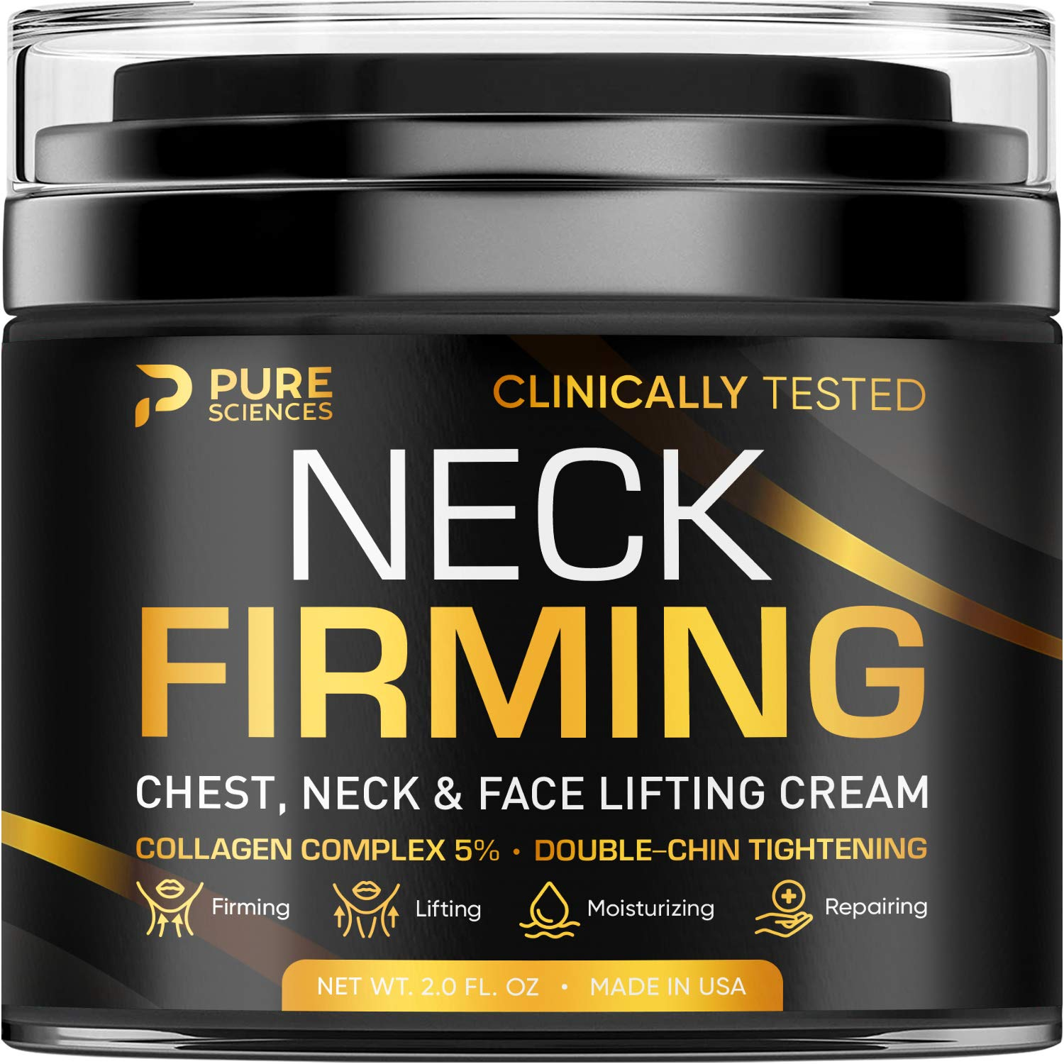 Neck Firming Cream - Anti Wrinkle Cream - Made in USA - Saggy Neck TIghtener & Double Chin Reducer Cream - Collagen & Retinol Skin Tightening Cream - Anti Aging Moisturizer for Neck & Décolleté: Beauty
