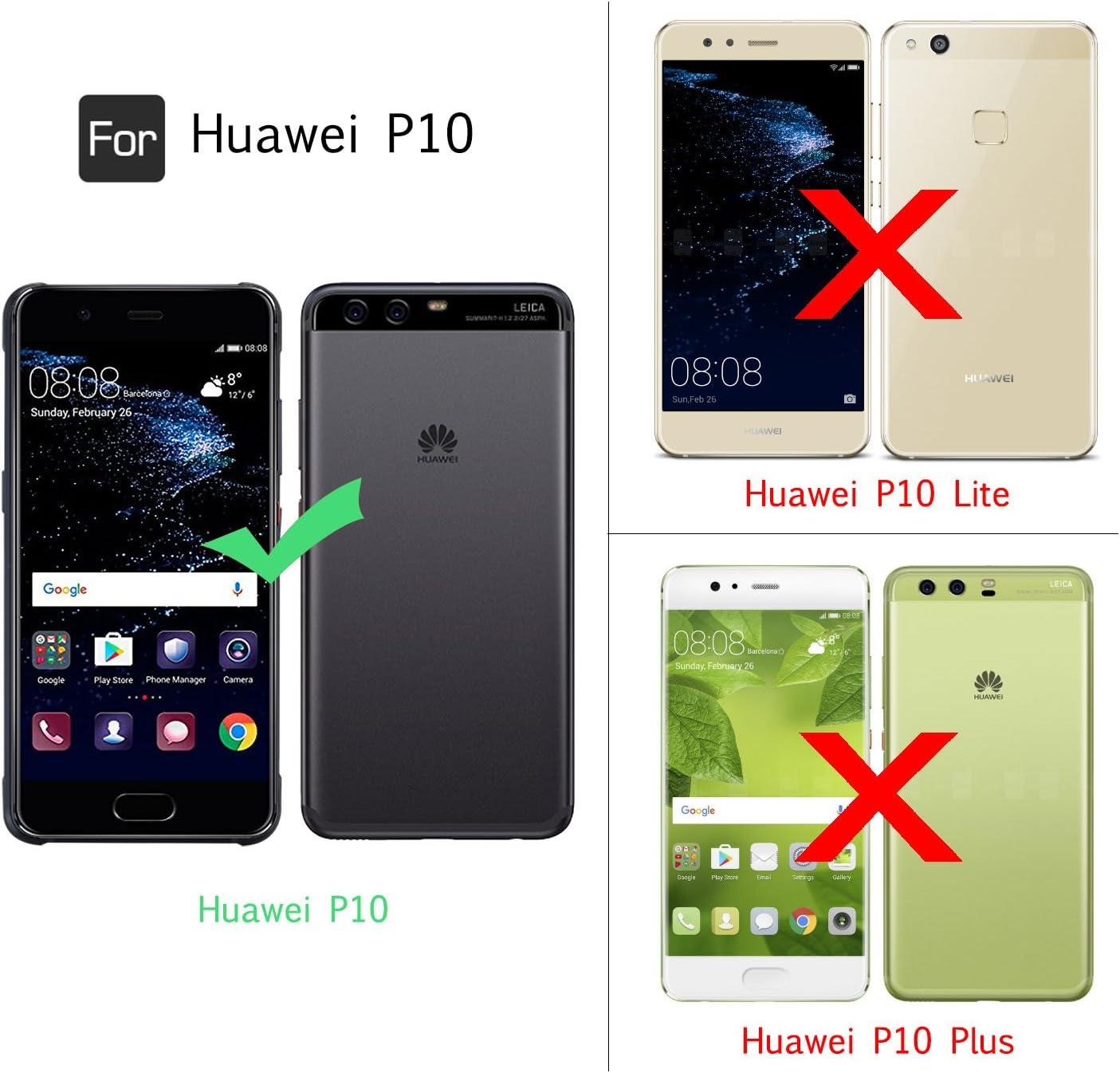 LeYi Funda Huawei P10 Silicona Purpurina Carcasa con HD ...