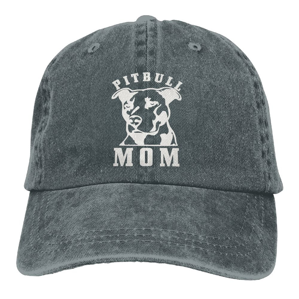 Kamaple Wangyi Proud Pitbull Mom Hipster Unisex Denim Jeans Adjustable Baseball Hat Hip-Hop Cap Gift for Men Women