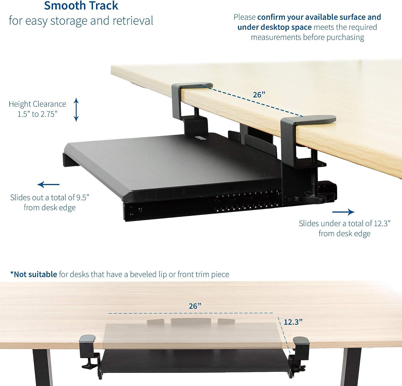 50,8 x 27,9 cm MOUNT-KB05ES VIVO Piccolo ripiano scorrevole per tastiera e mouse da posizionare sotto la scrivania