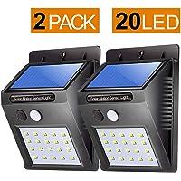 Bigsavings 20 LED Solar Motion Sensor Light,Outdoor Weatherproof for Driveway Garden Path Yard-Pack of 2 Solar Light LED