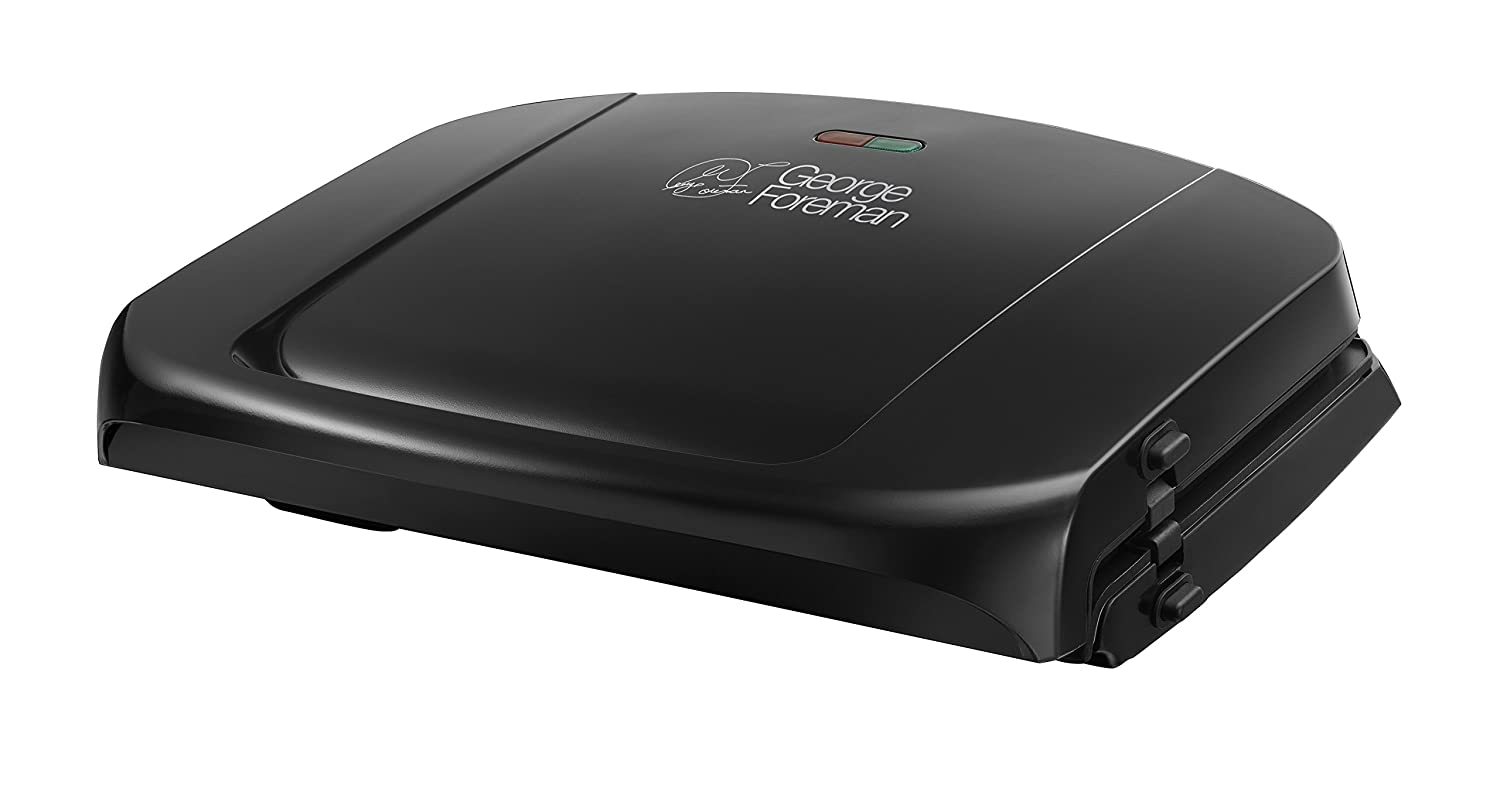 George foreman 20840 five portion family grill with removable plates black ebay - Health grill with removable plates ...