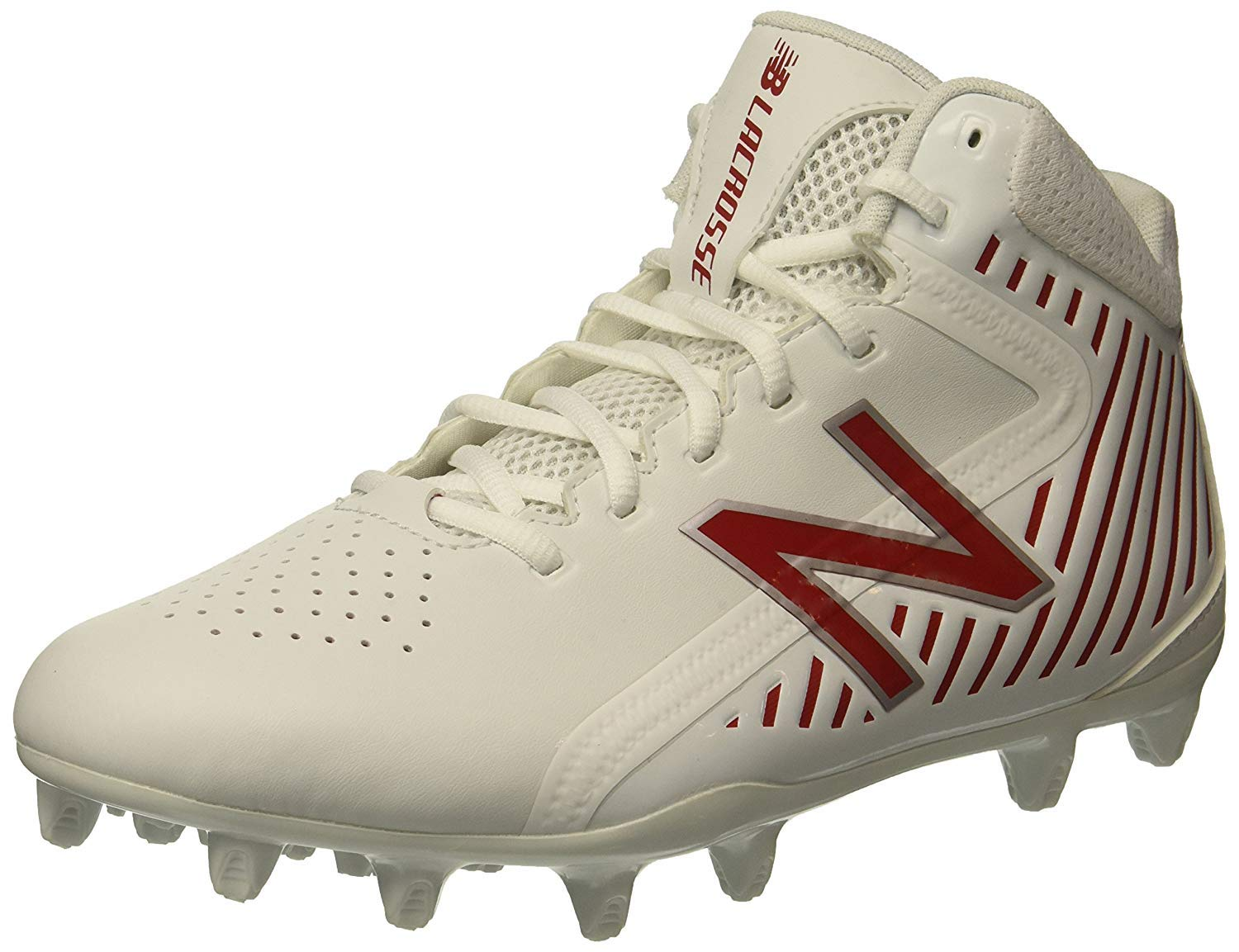 New Balance Men's Rush v1 Lacrosse Speed Shoe, White/Red, 13 2E US by New Balance