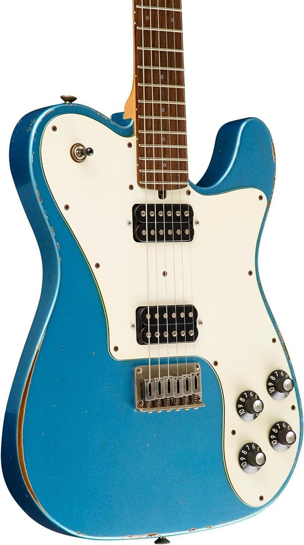 Friedman vintage-t HH palisandro diapasón guitarra eléctrica metálico azul pergamino Golpeador: Amazon.es: Instrumentos musicales