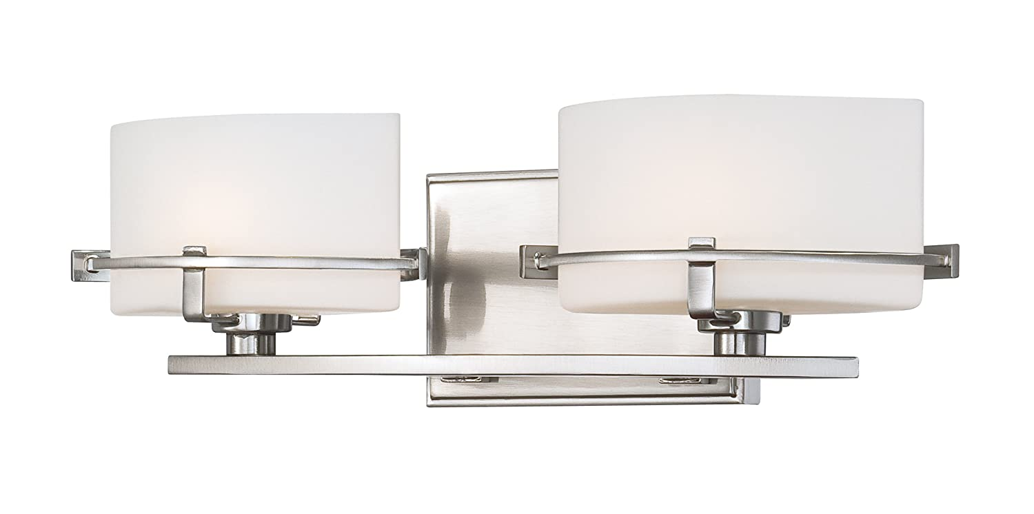Quoizel NN8602BN Two Bath Fixture Vanity Lighting, Brushed Nickel