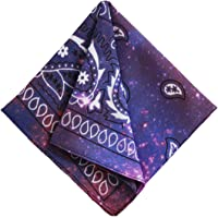 Bandanas for Men & Women - Paisley Bandana - Head Wrap, Scarf - Large 21x21