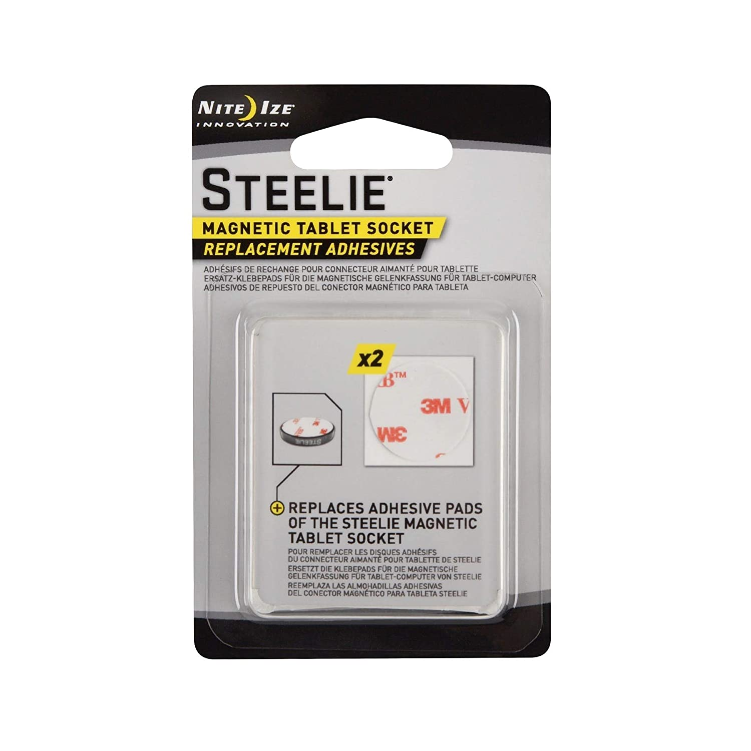 Amazon.com: Nite Ize Steelie Magnetic Tablet Socket Replacement Adhesives Kit (3-Pack of 2): Cell Phones & Accessories