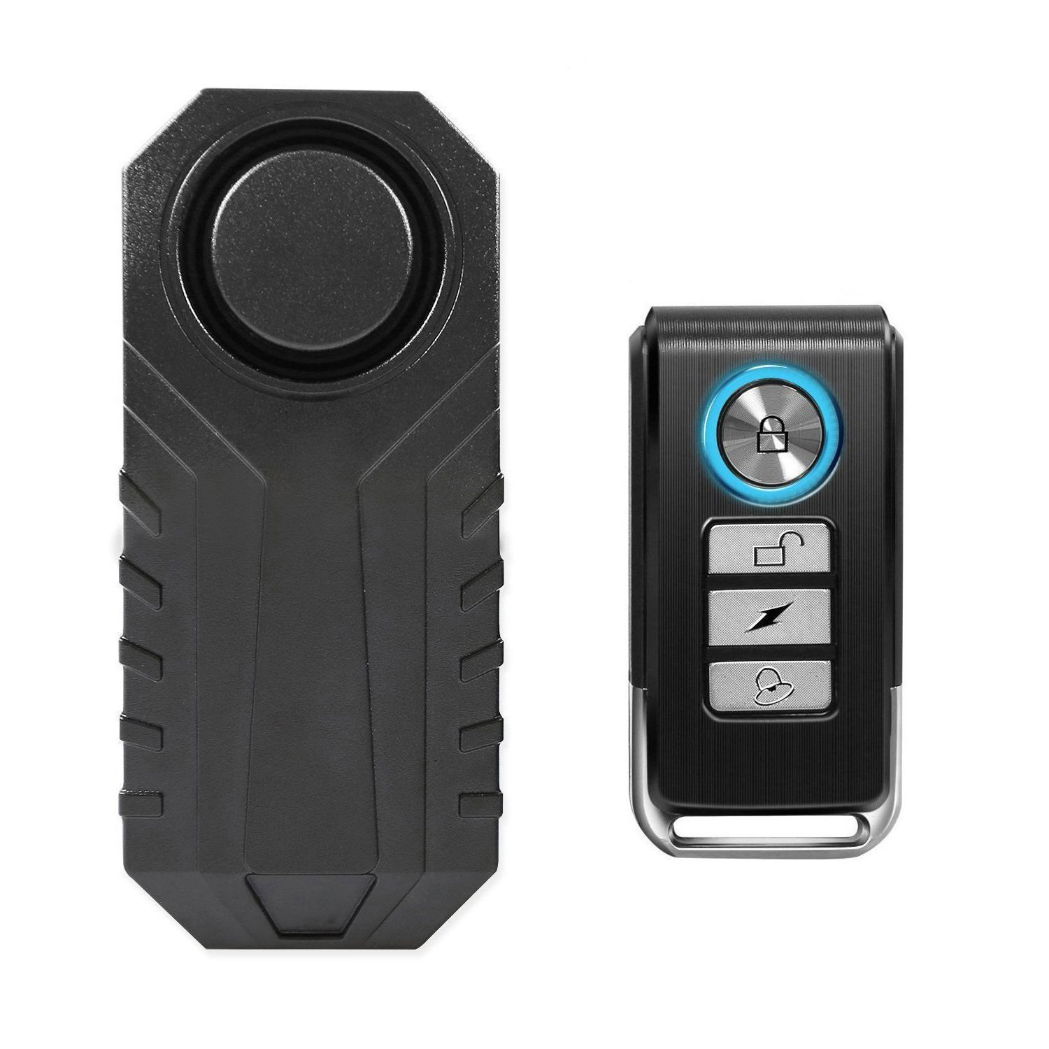 Wsdcam 113dB Wireless Anti-Theft Vibration Motorcycle Bicycle Alarm Waterproof Security Cycling Bike Alarm with Remote