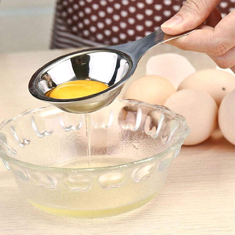 1PC Silver White Egg Egg White Separator Separator of Egg Yolk in Stainless Steel Separator