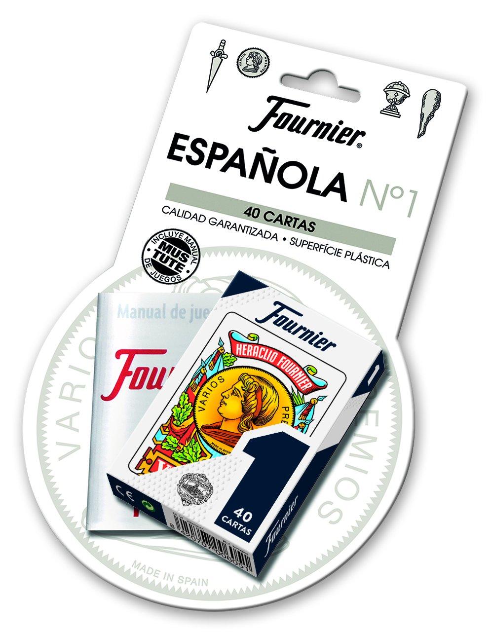Fournier- Nº 1 Blister Baraja Española 40 Cartas + ...
