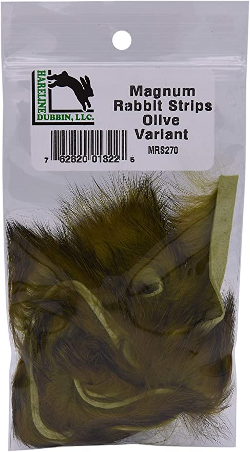Fly Tying Hareline Single Colour Rabbit Strips Regular Width LOTS OF NEW COLOURS