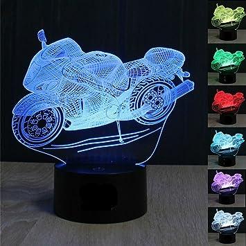 Amazon.com: superniudb motocicleta LED de 3d ilusión luz de ...