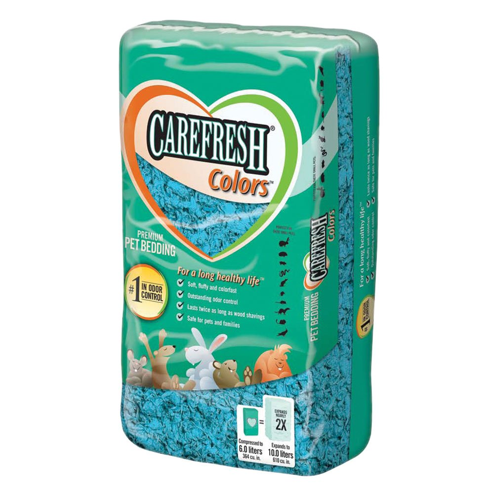Care Fresh Litter SAB118240 Absorption Carefresh colors Premium Soft Store Pet Bedding, 50-Litre, bluee