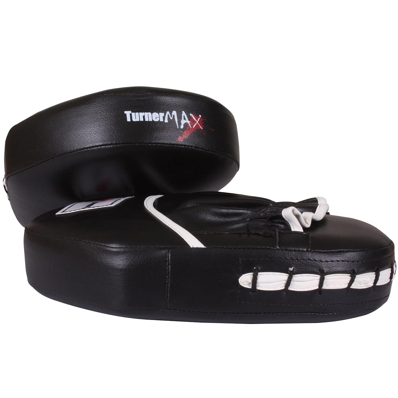 TurnerMAX Boxing Pads Focus Hook And Jab Punch Mitts Kickboxing Strike Shield Hand Target Muay Thai Martial Arts Training