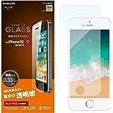 エレコム iPhone SE ガラスフィルム ガラス 0.33mm 指紋防止 光沢 iPhone 5s/5c/5対応 PM-A18SFLGG