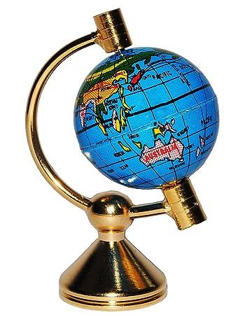 1 Stück _ Globus / Weltkugel - drehbar - Miniatur / Maßstab 1:12 ...