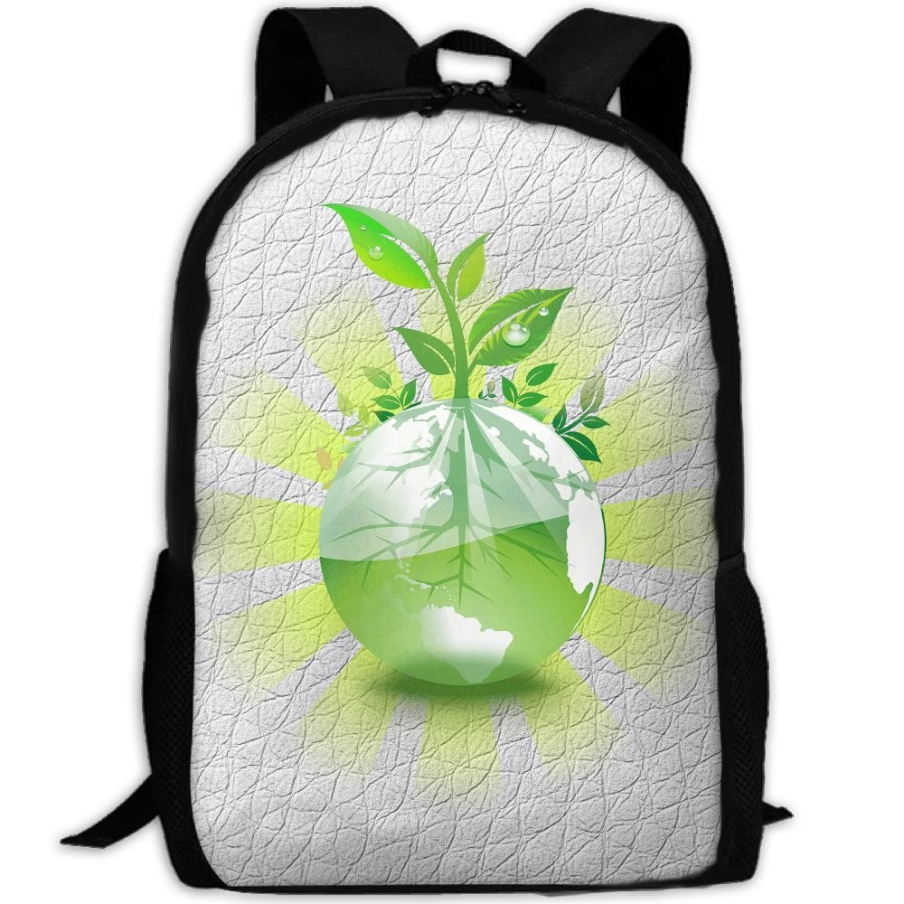 Save-Environment Double Shoulder Backpacks For Adults Traveling Bags Full Print Fashion by THIS STORE