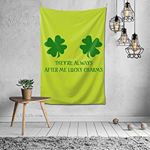 MADISON GRIFFITHS They're Always After Me Lucky Charms St Patrick's Day Home Decor Tapestry Wall Hanging Blanket for Living Room Bedroom Dormitory (40x60 in)