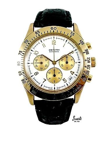 Reloj hombre Vintage Oro 18 Kt Zenith automático Original garantía revisionato: Amazon.es: Relojes